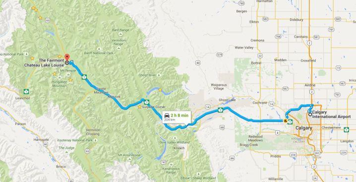 YYC to Banff