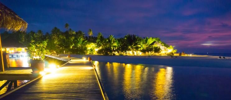 Night time on island