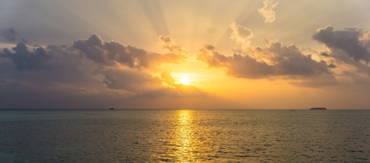 Beautiful sunset on the island