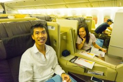 Singapore Airlines Business Class Flat bed seats